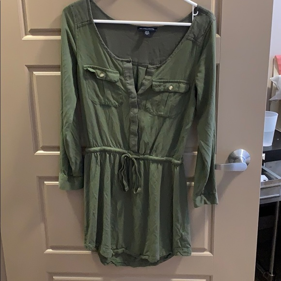 American Eagle Outfitters Dresses & Skirts - American eagle mud green army dress sz small